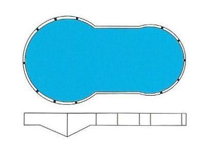 Keyhole shape liner