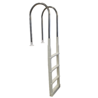 In Pool Deck Ladder with Stainless Steel Handles for Above Ground Pools