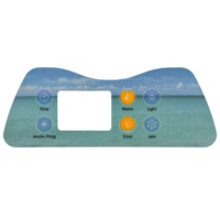 Artesian Spas Island series topside touchpad overlay decal 6 button 1 pump