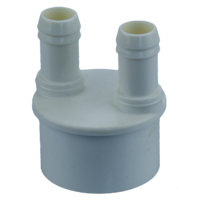 "Edgetec 3/4"" B (x2 port) x 50mm/2"" Barb Adaptor"