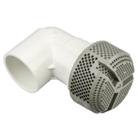 "Waterway 3.5"" Ultra Hi-Flo Suction - Grey 454 lpm Rated with 90 Degree ell 2"" Socket"