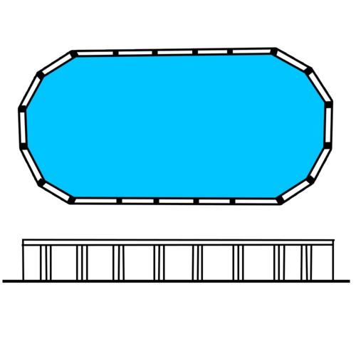 "Whitsunday 27 x 15 (8.16 x 4.56m) 4'6"" Oval Resin Pool [LINER COLOUR: Light Blue]"